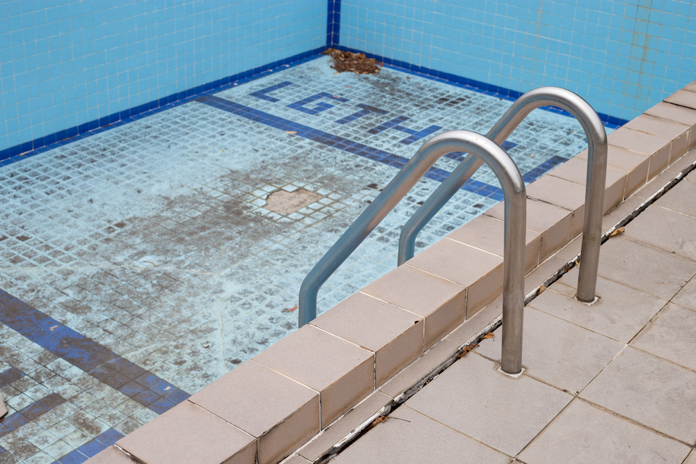 The damage swimming pool