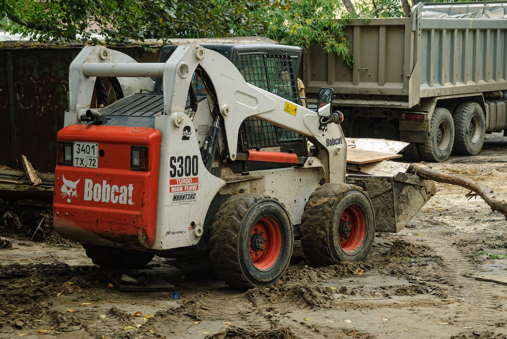 Close up of a bobcat or skid loader