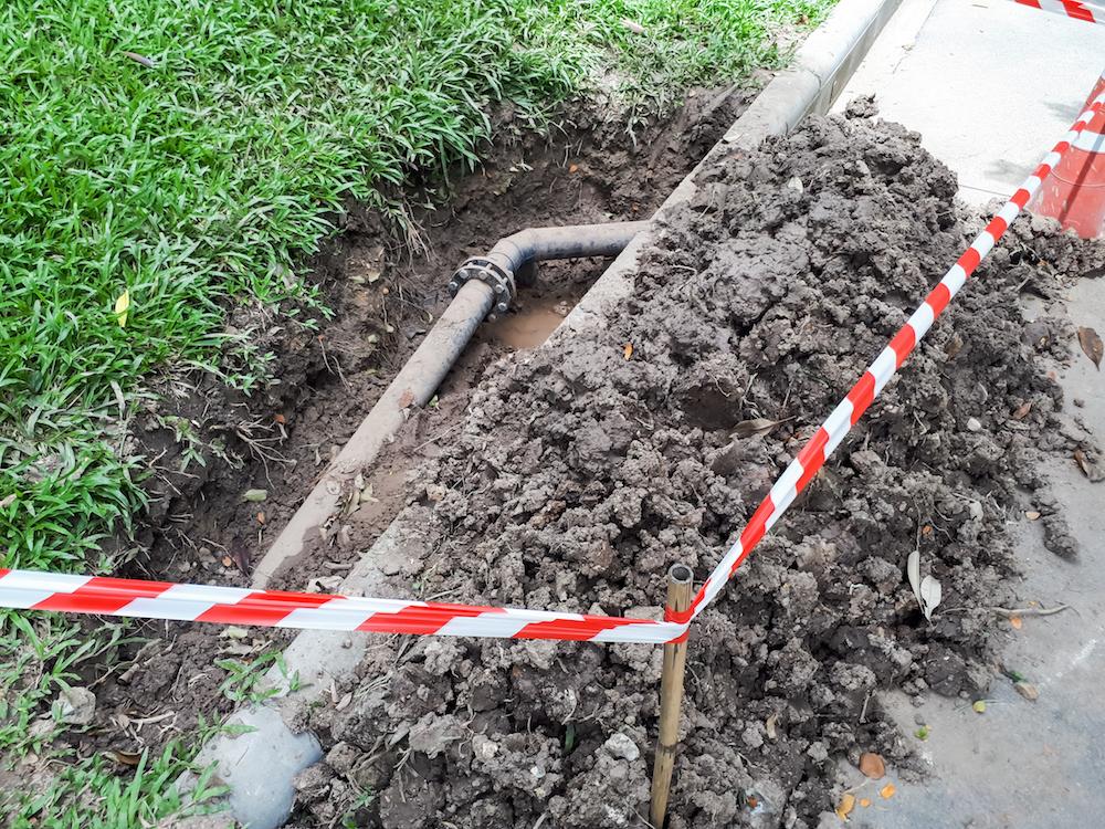 Plumbing repair area